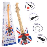 "Toyrific AOM 30"" 6 String Electric Guitar Union Jack With Case Christmas Gift"